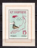 Albania 1964 Mi Block 19A MNH SUMMER OLYMPICS TOKYO (*) - Albania