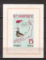 Albania 1964 Mi Block 19B MNH SUMMER OLYMPICS TOKYO (*) - Albania