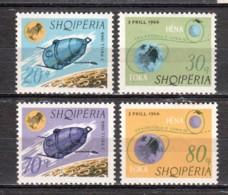 Albania 1966 Mi 1067-1070 MNH SPACE EXPLORATION - Albania