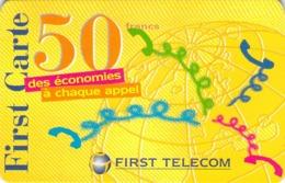 Carte Prépayée -  FIRST TELECOM -  50 FRANCS - Andere Voorafbetaalde Kaarten
