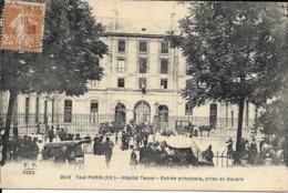 Cpa Paris, Hôpital Tenon, Entrée Principale Prise Du Square - Arrondissement: 20