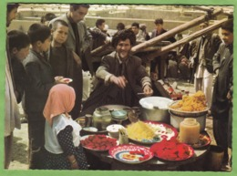Belle CPSM AFGHANISTAN Market Day Animé Cuisine Marchand - Afghanistan