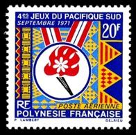 POLYNESIE 1971 - Yv. PA 45 *   Cote= 9,50 EUR - Jeux Du Pacifique-Sud  ..Réf.POL24375 - Poste Aérienne