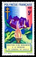 POLYNESIE 1971 - Yv. PA 46 **   Cote= 10,20 EUR - Monument Général De Gaulle  ..Réf.POL24376 - Poste Aérienne