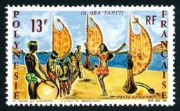 POLYNESIE 1966 - Yv. PA 21 ** TB  Cote= 15,50 EUR - Vive Tahiti, Danse  ..Réf.POL24363 - Posta Aerea