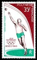 POLYNESIE 1968 - Yv. PA 26 ** SUP  Cote= 20,00 EUR - Jeux Olympiques De Mexico  ..Réf.POL24366 - Poste Aérienne