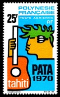 POLYNESIE 1969 - Yv. PA 28 * SUP  Cote= 27,00 EUR - PATA 1970  ..Réf.POL24368 - Poste Aérienne