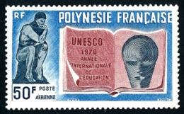 POLYNESIE 1970 - Yv. PA 39 **   Cote= 22,00 EUR - Année Intern. De L'alphabétisation  ..Réf.POL24373 - Poste Aérienne