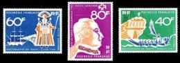 POLYNESIE 1968 - Yv. PA 22 23 Et 24 ** SUP  Cote= 37,20 EUR - Découverte De Tahiti (3 Val.)  ..Réf.POL24364 - Poste Aérienne