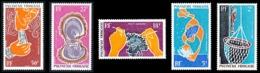 POLYNESIE 1970 - Yv. PA 34 35 36 37 Et 38 ** SUP  Cote= 41,90 EUR - Huitre Perlière (5 Val.)  ..Réf.POL24372 - Poste Aérienne