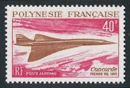POLYNESIE 1969 - Yv. PA 27 ** SUP  Cote= 66,00 EUR - Avion Supersonique Concorde  ..Réf.POL24367 - Poste Aérienne