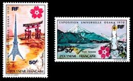 POLYNESIE 1970 - Yv. PA 32 Et 33 * SUP  Cote= 72,00 EUR - Expo Univ. Osaka, Au Japon (2 Val.)  ..Réf.POL24371 - Poste Aérienne