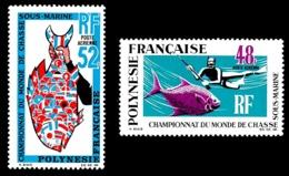 POLYNESIE 1969 - Yv. PA 29 Et 30 * TB  Cote= 107,00 EUR - Chasse Sous-marine (2 Val.)  ..Réf.POL24369 - Poste Aérienne