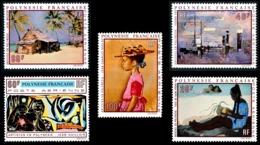 POLYNESIE 1970 - Yv. PA 40 41 42 43 Et 44 ** SUP  Cote= 110,00 EUR - Tableaux D'Artistes Polyn. (5 Val.)  ..Réf.POL24374 - Poste Aérienne