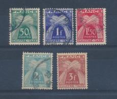 FRANCE - TAXE N°YT 69/73 OBLITERES - 1943/46 - Taxes