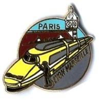 TGV POSTAL - T304 - PARIS-LYON-MARSEILLE - Verso : BALLARD - TGV
