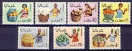 "1968-(MNH=**) Somalia 7valori ""venditrici Di Frutta"" - Somalia (1960-...)"