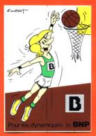 """Autocollant """" Pour Les Dynamiques : La BNP """" Bascket Ball - Illustré Coutant - Pegatinas"""
