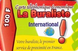 Carte Prépayée -  LA BURALISTE - 100 F - Frankrijk