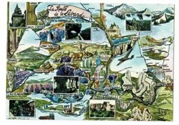 """892 - Circuit Touristique """"La Route De La Lavande"""" Multivues, 6 Vues - Contour Géographique Illustré - Pas Circulé - Landkaarten"""
