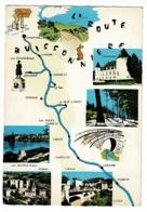 """F. 30590 - La Route Buissonnière """"Val D'Azergues"""" De Chaufailles à Civrieux, Illustration & Multivues, 5 Vues - 1972 - Landkaarten"""