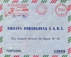 Mozambique 1962 Commercial Cover To Portugal With Lourenço Marques Meter Franking EMA 7 $ Balances AVERY - Fabbriche E Imprese