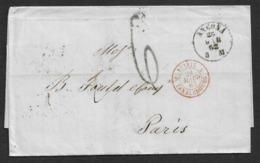 1862 LSC - ANCONA A PARIS - Entrée ITALIE LANSLEBOURG - Transit BOLOGNA Et TORINO - 1861-78 Vittorio Emanuele II
