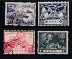 MALTA, 1949 UPU Set Very Fine - Malta (...-1964)