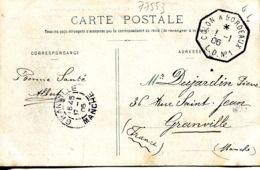 N°77553 -superbe Cachet Hexagonal Colon à Bordeaux L.D.N°1 -1906- - Bolli Manuali