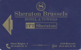 BELGIO KEY HOTEL  Sheraton Brussel Hotel & Towers (ITT Sheraton) - Hotelkarten