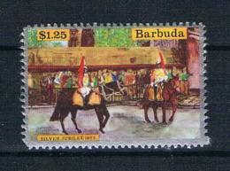 Barbuda Pferde Einzelmarke Ungestempelt (oG) - Antigua Und Barbuda (1981-...)