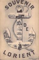 """56 - LORIENT - Multivues """" Souvenir De Lorient """" En Forme D'encre De Marine - CPA - Morbihan ( Bretagne ) - Lorient"""