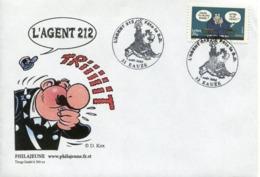 FRANCE 2005 - France Premier Jour (FDC) : Carnet Sourires, Le Chat De Geluck L'AGENT 212 - 32 EAUZE - 2000-2009