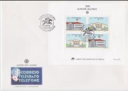 Acores 1990 FDC Europa CEPT Souvenir Sheet (LAR8-44) - 1990