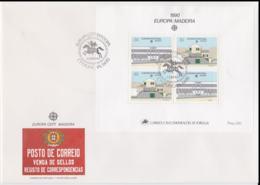 Madeira 1990 FDC Europa CEPT Souvenir Sheet (LAR8-44) - 1990