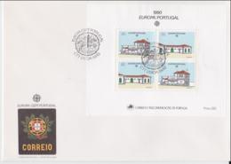 Portugal 1990 FDC Europa CEPT Souvenir Sheet (LAR8-44) - Europa-CEPT