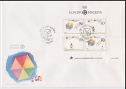 Madeira 1990 FDC Europa CEPT Souvenir Sheet (LAR8-44) - 1989