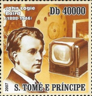 Sao Tome John Logie Baird Television Inventor 1v Stamp Michel:3256 - Beroemde Personen