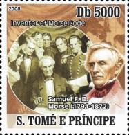 Sao Tome Morse Code Inventor Samuel Morse 1V Stamp Michel:3500 - Celebrità