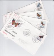 Denmark FDC 1993 Butterflies - Four FDC (G103-55) - Schmetterlinge