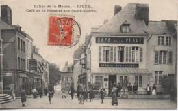 08 GIVET  Café De La Place Et Rue Saint-Hilaire - Givet
