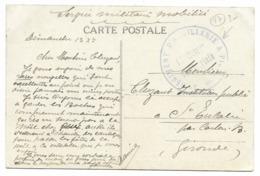 3e REGIMENT D'ARTILLERIE A PIED / ?e Battrie Territoriale Sur Carte De Ile D'Oléron/Le Château... - Marcophilie (Lettres)