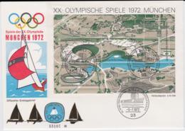 Germany FDC 1972 Olympic Games München Souvenir Sheet - Kiel (LAR8-43) - Estate 1972: Monaco