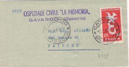 1958-Europa L.25 Su Piego Ospedaliero - 6. 1946-.. Republic