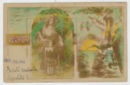 C.P. PICCOLA       BIGLIETTO   POSTALE   DAL  BRASILE  1908    2  SCAN  (VIAGGIATA) - Brasile