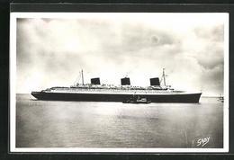 AK Passagierschiff Normandie Auf Ruhiger See, Compagnie Generale Transatlantique - Paquebots
