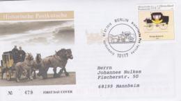 Germany FDC 2010 Historische Postkutsche (G103-54) - FDC: Buste