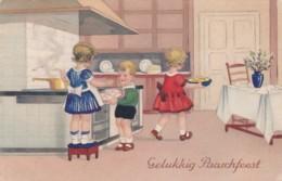 CPA -  ILLUSTRATEUR - Gelukkig  Paaschfeest -  Enfants Cuisson De Brioches (lot Pat 83) - Ilustradores & Fotógrafos