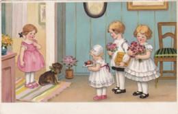 CPA -  ILLUSTRATEUR - Enfants Invités - Bouquets De Fleurs- (lot Pat 83) - Ilustradores & Fotógrafos