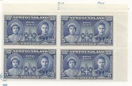 25668) Canada Mint No Hinge ** Newfoundland 1939 Block - 1908-1947